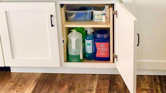 under sink storage organizer diy