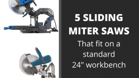 sliding miter saws that fit on a standard workbench