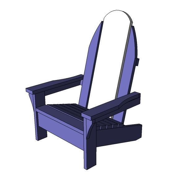 Ana White Child Sized Surf Board Adirondack Chair Diy Projects