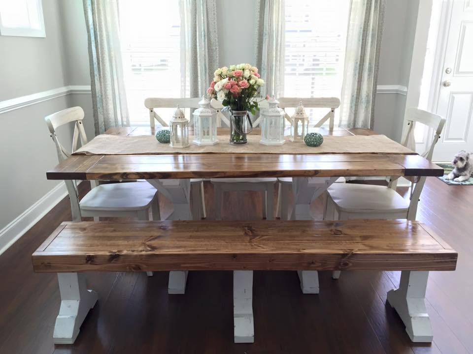 Farmhouse Table & Bench - DIY Projects