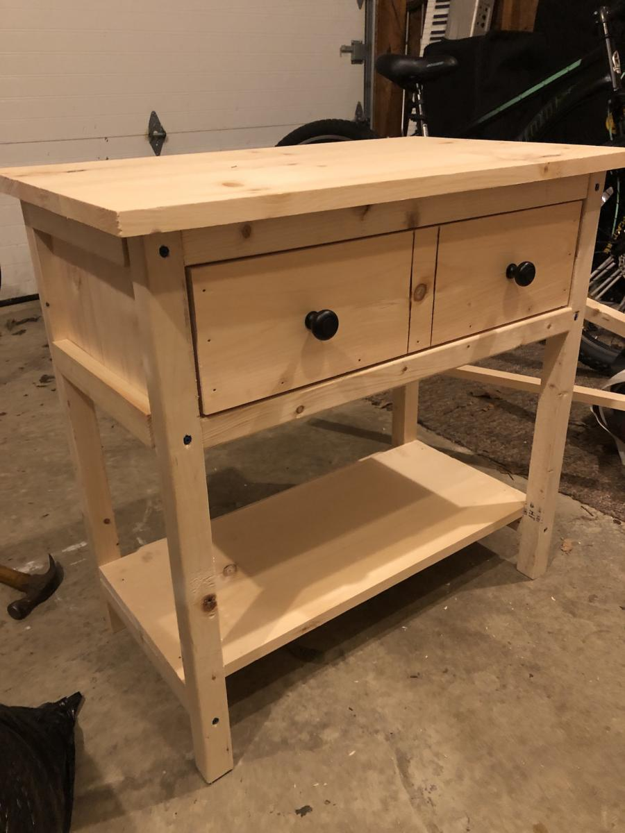Modern Farmhouse Bed And Bedside Tables Ana White