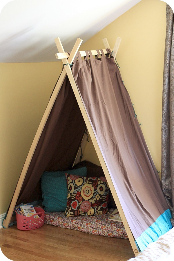ana white easy kids 39 tent reading nook diy projects