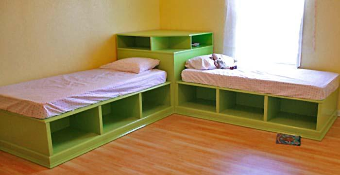 DIY Twin Bed with Storage