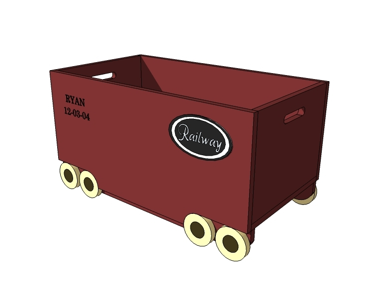 truck toy box plans