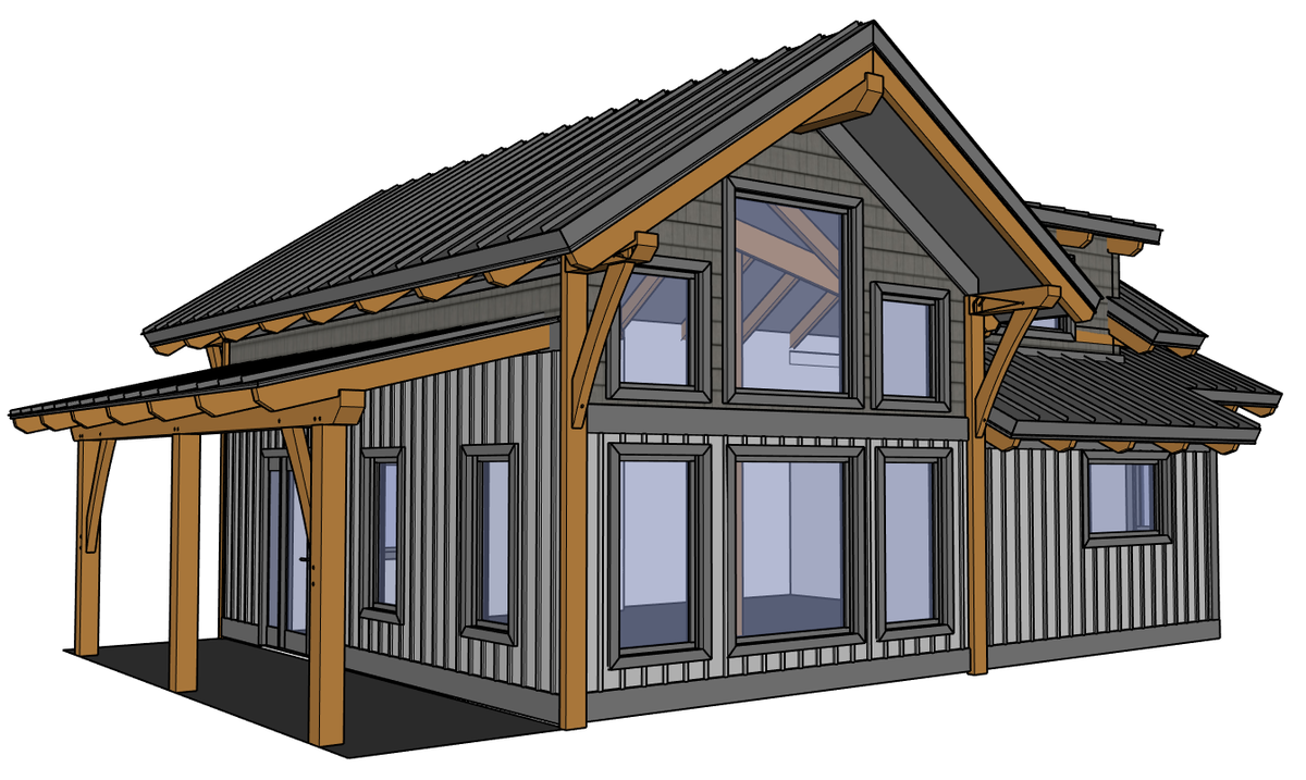 A frame lake cabin plans escortsea for Cabin architectural plans