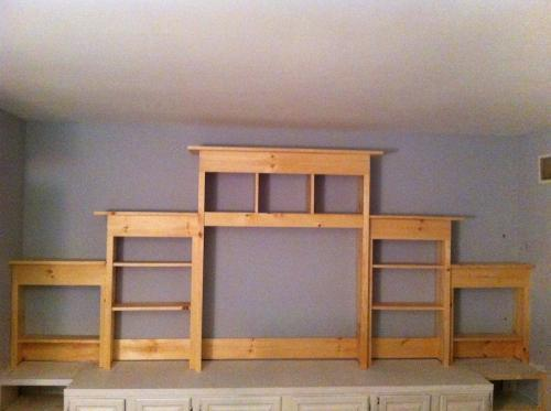 How To Build A Wall Unit Entertainment Center Plans DIY ...