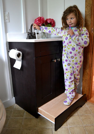 Ana White Vanity Step Drawer Diy Projects