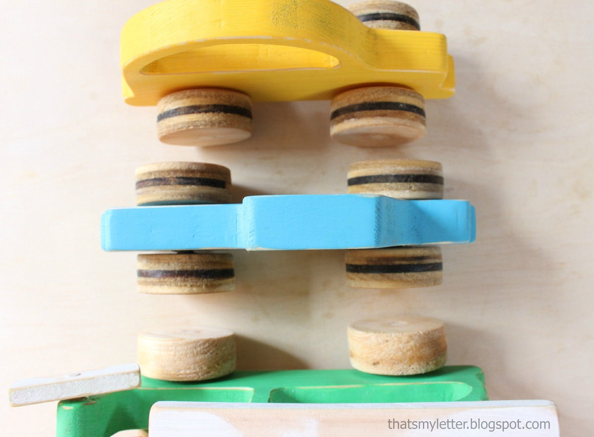 These adorable wood toy push cars with wheels were made by the amazing ...