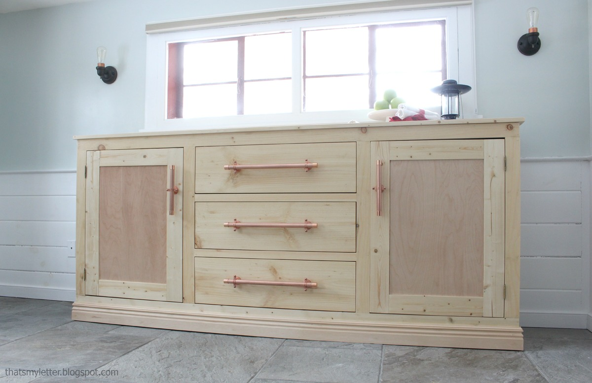 Build An Extra Long Buffet Cabinet With Tons Of Storage Free Plans By ANA WHITE