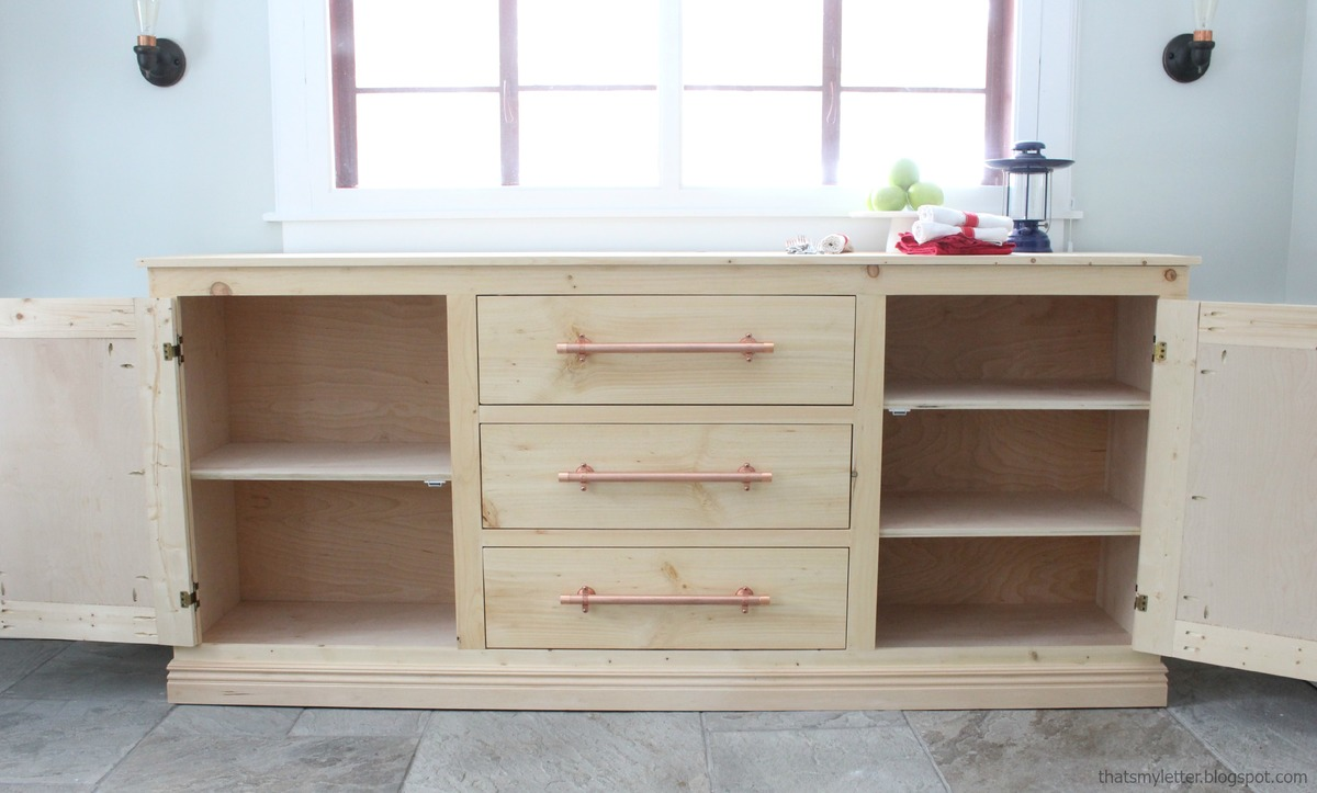 ana white extra long buffet cabinet diy projects