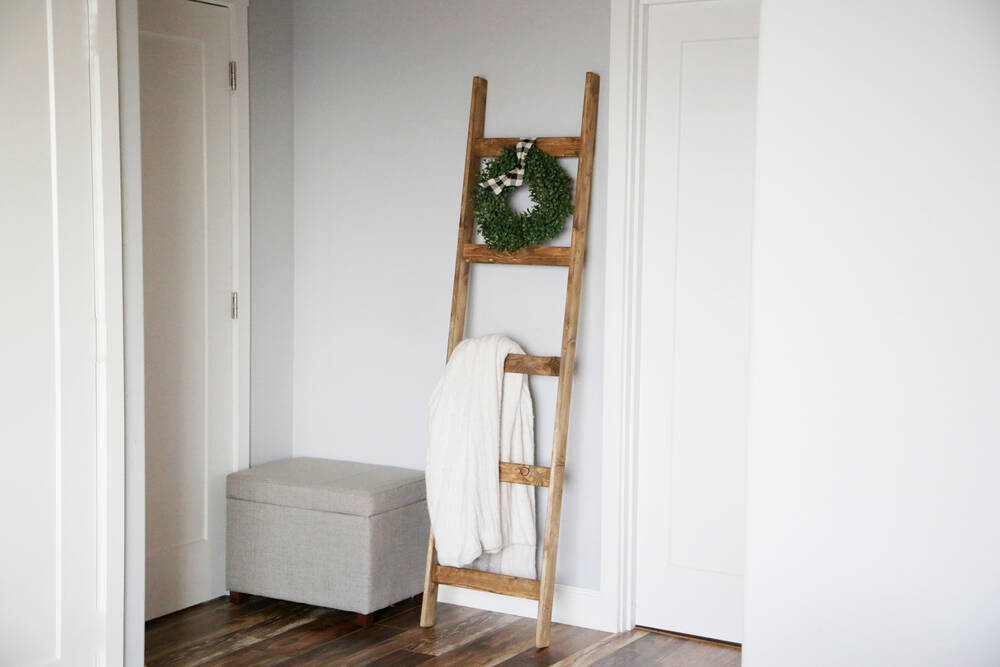 blanket ladder diy plans ana white